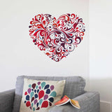 Floral Heart vinyl wall sticker in  by Vinyl Impression