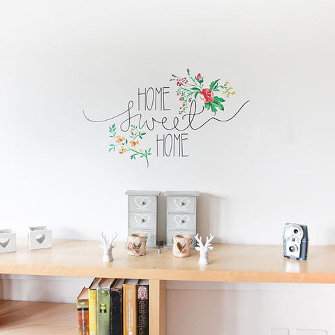 Decorative wall transfer home sweet home statement decal