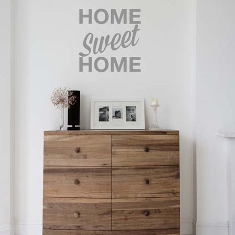 Homely wall decal of 'home sweet home' for modern family homes