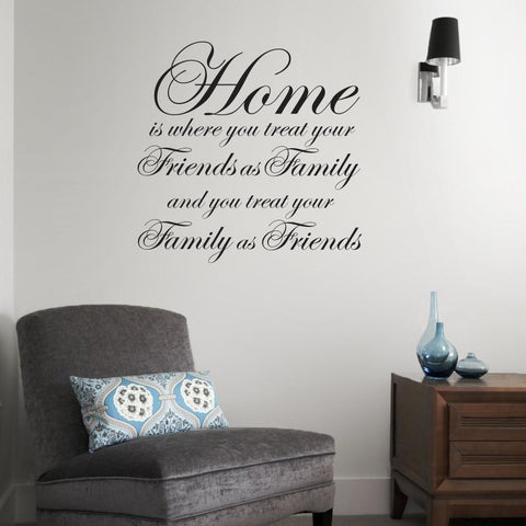 Home is where... sentimental wall sticker for family homes