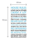 Customised House Rules Wall Sticker in  by Vinyl Impression
