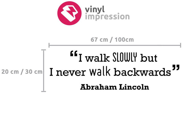 Walk' Motivational Quote Wall Sticker in  by Vinyl Impression