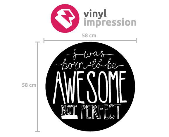Born to be awesome wall decal in  by Vinyl Impression