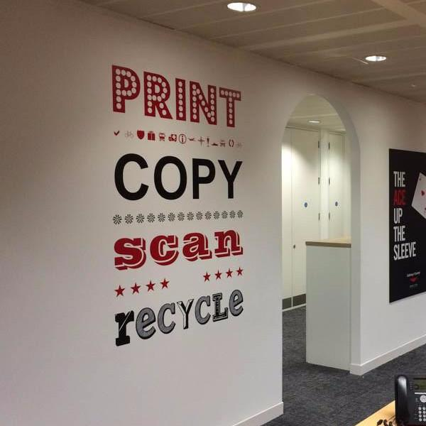 Print Copy Scan Recycle Graphic in  by Vinyl Impression
