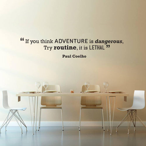 Paul Coelho motivational wall sticker decal applique quote graphic