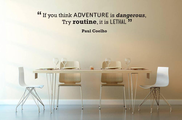 Adventure' Motivational Quote Wall Sticker in  by Vinyl Impression