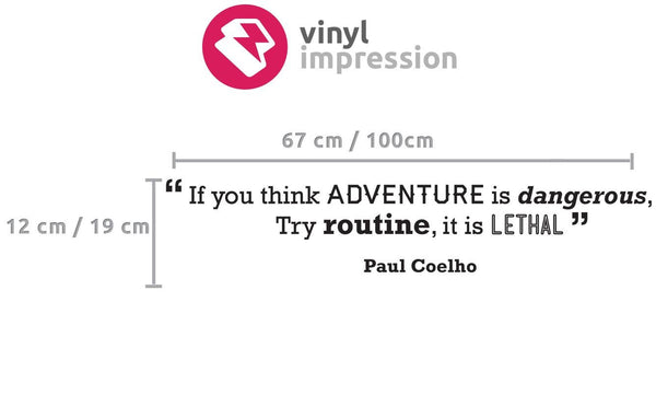 Adventure' Motivational Quote Wall Sticker in Office by Vinyl Impression