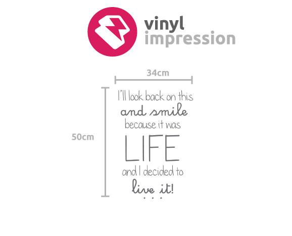 I'll look back UK Wall Sticker in Office by Vinyl Impression