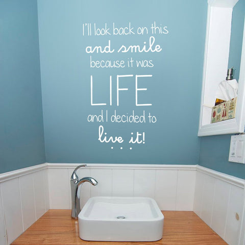 I'll look back UK Wall Sticker - By Vinyl Impression