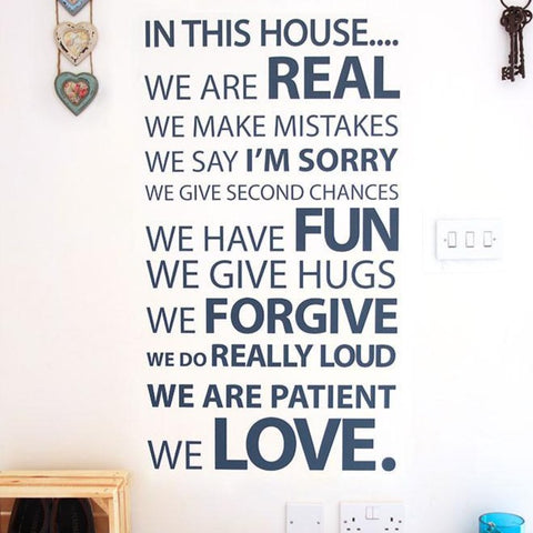 Wall Sticker quote by Vinyl Impression