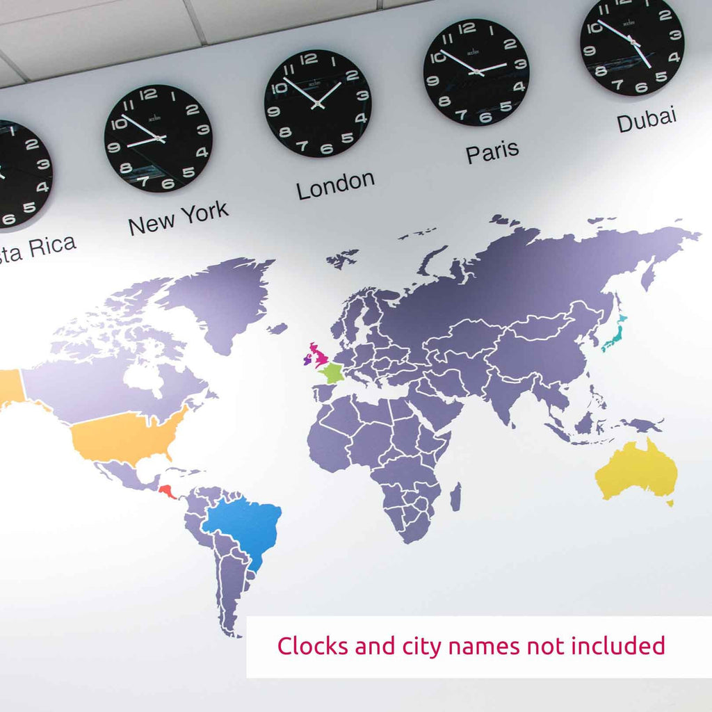 Wall stickers map of the world - World Map Infographic Wall Sticker In By Vinyl Impression