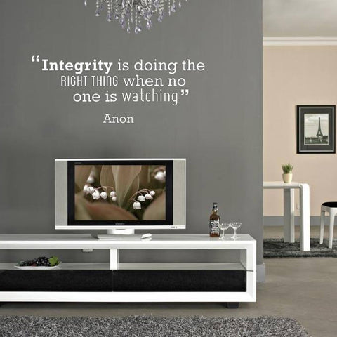 Integrity' Motivational Quote Wall Sticker