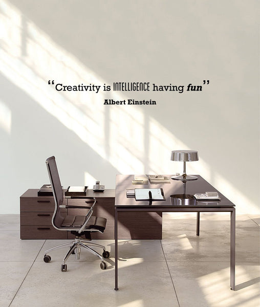 Creativity' Motivational Quote Wall Sticker in  by Vinyl Impression