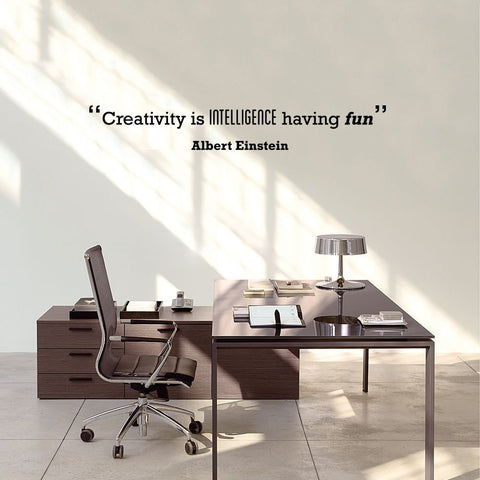 Einstein wall decal typographic word quote