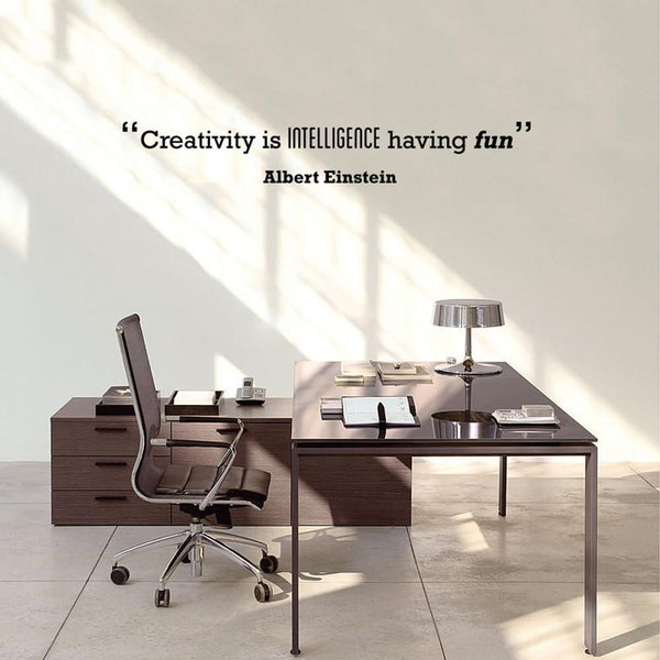 Creativity' Motivational Quote Wall Sticker in Office by Vinyl Impression