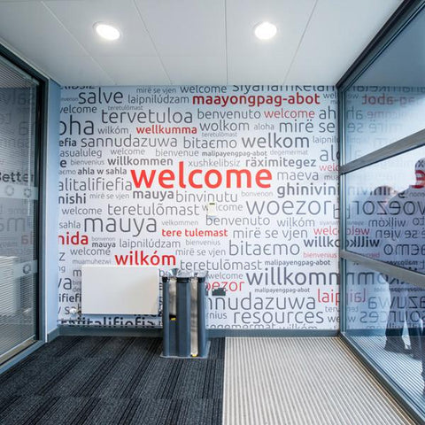 International Welcome Wall Mural (Laminated)