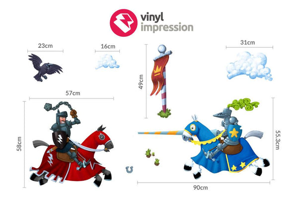 Jousting Knights in  by Vinyl Impression