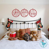Joy, Peace & love Christmas decoration wall stickers in  by Vinyl Impression