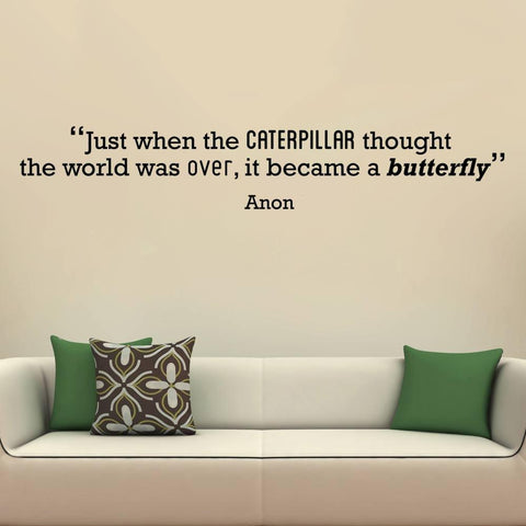 Caterpillar' Motivational Quote Wall Sticker