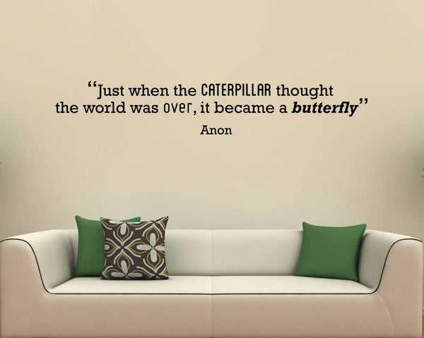 Caterpillar' Motivational Quote Wall Sticker in  by Vinyl Impression