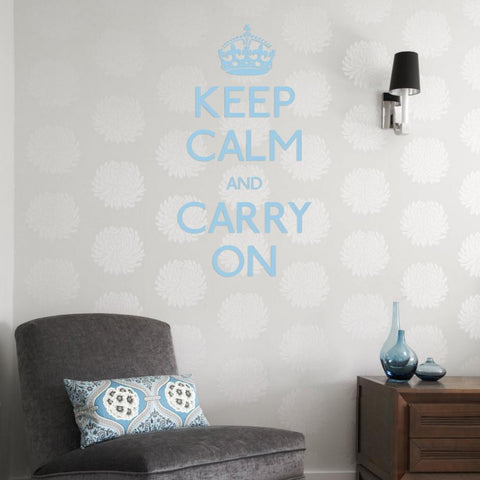 Keep calm and carry on wall art stickers.