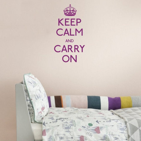 British themed war time saying keep calm and carry on wall sticker UK