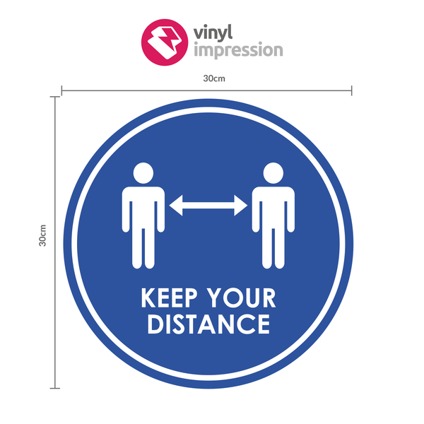 Keep Your Distance Floor Sticker Pack in  by Vinyl Impression