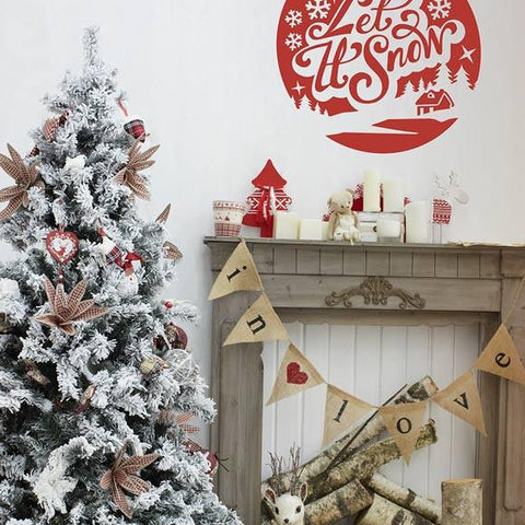 Christmas decoration wall sticker decal for the festive period
