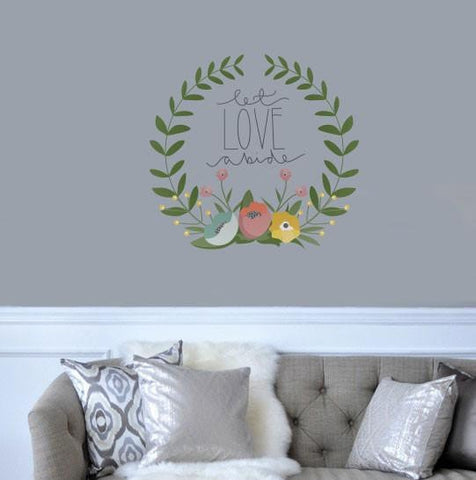 Let love abide vinyl typographic wall sticker decal for beautiful homes