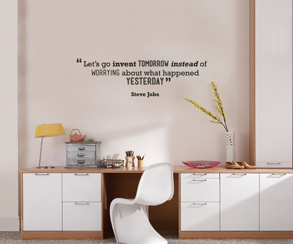 Tomorrow' Motivational Quote Wall Sticker in  by Vinyl Impression