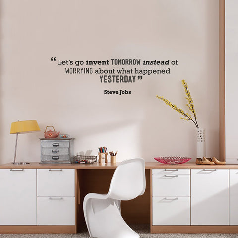 Tech Wall quote by Steve Jobs for offices temporary wall art