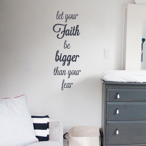 Wall art sticker about Faith as a christian wall transfer