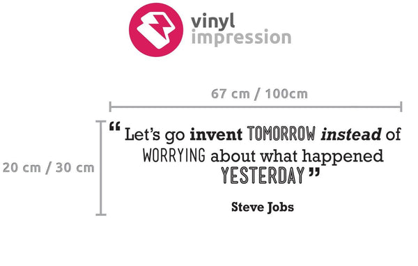 Tomorrow' Motivational Quote Wall Sticker in Home by Vinyl Impression