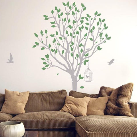 Tree with grass Wall Sticker Life size tree wall sticker decal & Nature Wall Stickers | Vinyl Impression