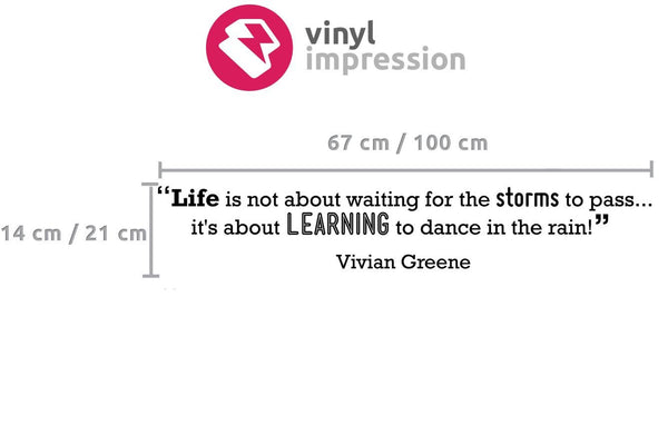 Learning' Motivational Quote Wall Sticker in  by Vinyl Impression