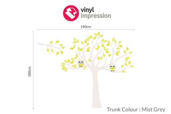 Tree with pattern leaves -Lime in Nature by Vinyl Impression