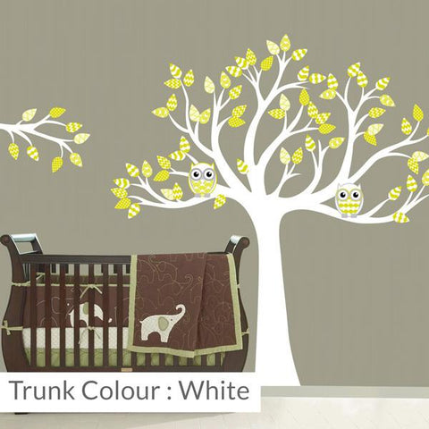 Tree with leaves nursery wall sticker