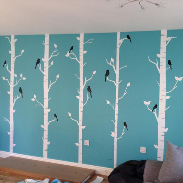 Forest of birch trees Wall Sticker in Popular by Vinyl Impression