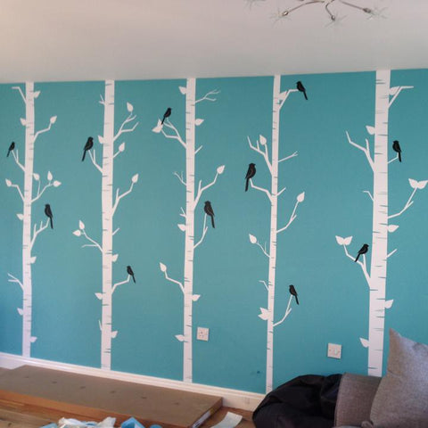 Forest of birch trees Wall Sticker