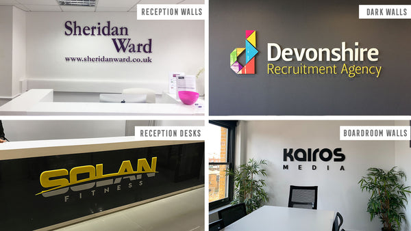 3D Acrylic Logo Wall Sign Standard Colours in  by Vinyl Impression