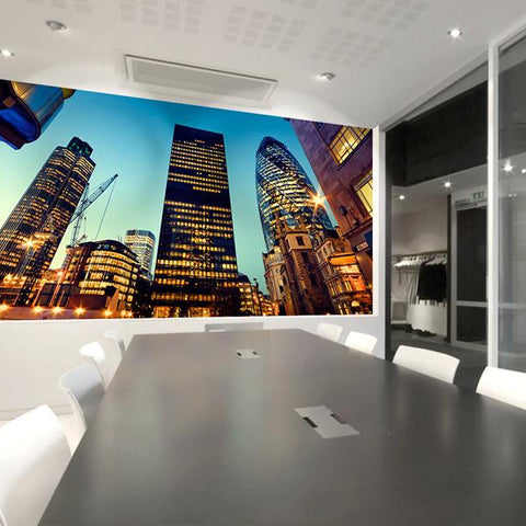 Tower 42 wall mural for office and commercial interior design