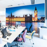 London at Night Wall Mural in  by Vinyl Impression