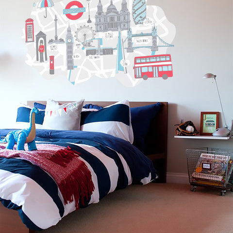 London kids bedroom scene
