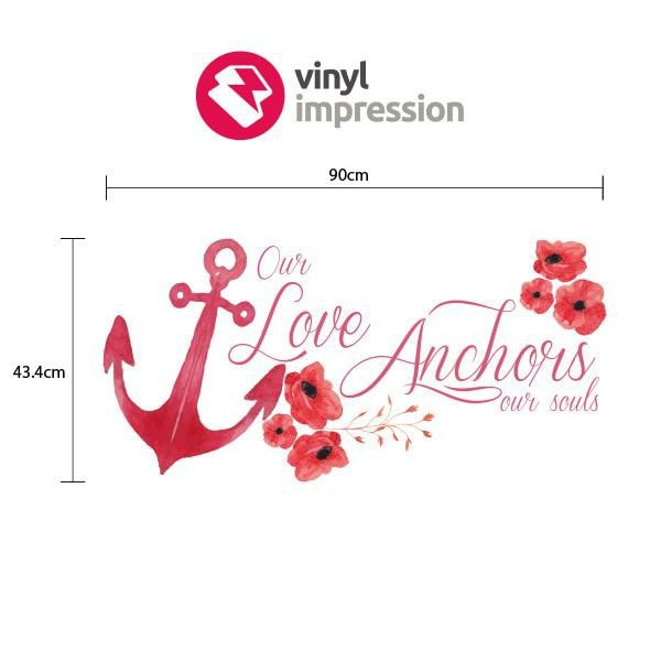Love Anchor Printed in  by Vinyl Impression