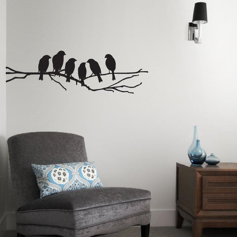 love birds in silhouette wall sticker decal for home interior design