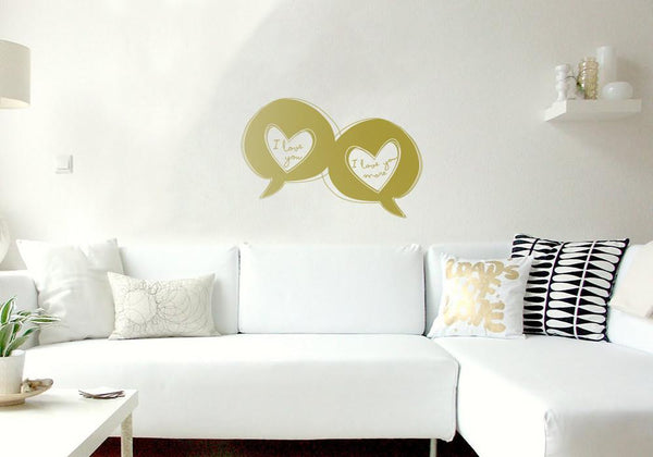 Love Speech Bubbles in  by Vinyl Impression