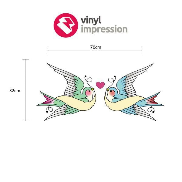 Swallows in Love in  by Vinyl Impression