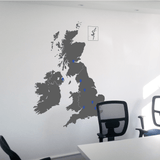 UK Map Wall Sticker in  by Vinyl Impression