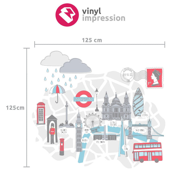 Beautifully British Wall Decal in Popular by Vinyl Impression