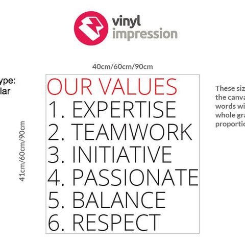 Company Values style 3 measurement